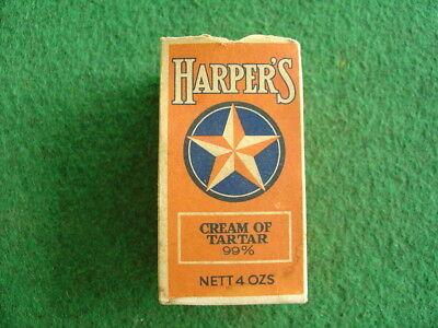 Vintage 50's Harper's cream of tartar box/grocery/retro