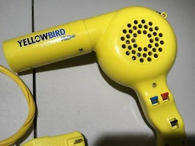 Conair Yellow Bird Professional 1875W Hair Dryer Blow Dryer TESTED WORKS GREAT