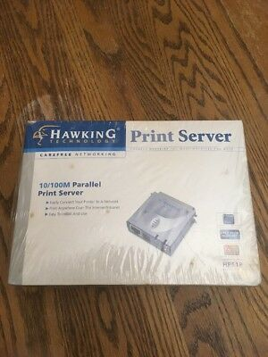 Hawking Technology HPS1P 10/100M Parallel Print Server 36 Pin New Damaged Box