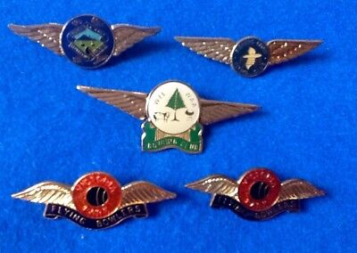 Collectors BARGAIN Lot (5) FLYING BOWLERS CLUBS Pins Assocn' BADGES .. FREE POST
