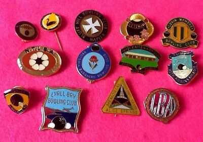 Collectors BARGAIN Lot (13) BOWLS CLUBS Pins Assocn' BADGES ... FREE POST