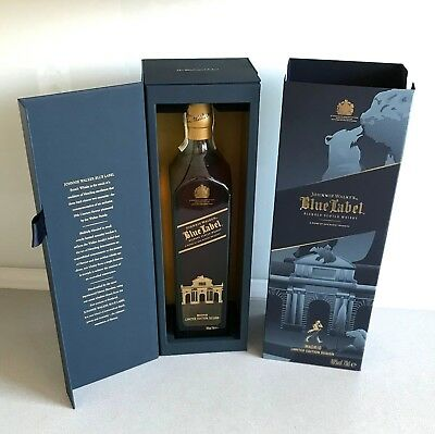 JOHNNIE WALKER Blue Label MADRID Limited Edition Design Scotch Whisky 0,7l