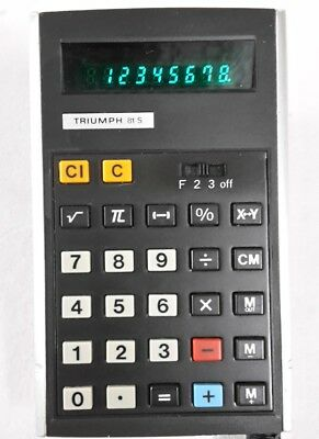 TRIUMPH Taschenrechner 81 S, Pocket calculator, rare - from 70ties, hard to find