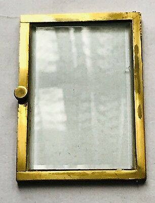 BEVELLED EDGED GLASS DOOR FOR CARRIAGE CLOCK ETC 2.4INCHESx3.4 INCHES APPROX!!!!
