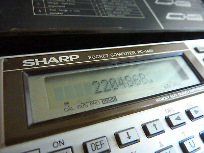 Vintage Sharp PC-1401 Pocket Computer Calculator – Japan 1983