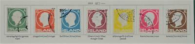 Iceland 7 Early Stamps  1912 To 5 Kr.   (S8)