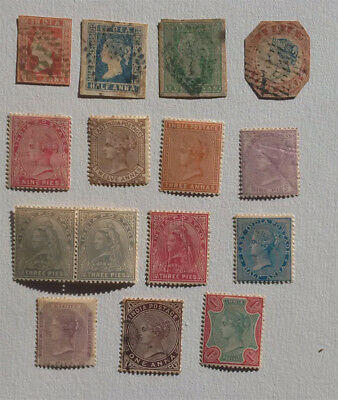 Lot 15 timbres India Inde