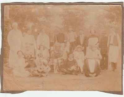 Early photograph, Burma, British people, costumes, early George V era, 205x150mm