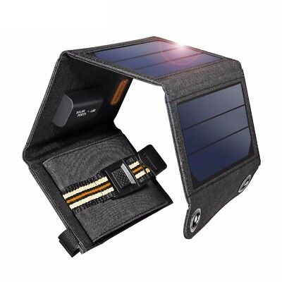 Foldable Solar Panel 7W 5V USB Output Portable Power Bank Charger For Smartphone