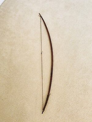 "VERY RARE ANTIQUE NATIVE AMERICAN  ARCHERY WOOD BOW 52"" LATE 1800's PASSAMMAQUAD"