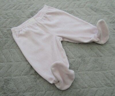 Baby Girls Cotton Pink Joggers/Jogging Pants with Feet (0-3 Months)