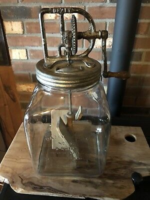 Antique Dazey Butter Churn No. 80 Pat. Feb.14, 22 Vermont Farmhouse Find