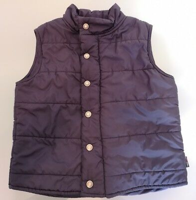 Fred bare kids boys blue quilted vest size 7