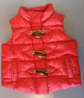 Seed Heritage baby red quilted zip up puffer vest  size 0 suit 6-12 months