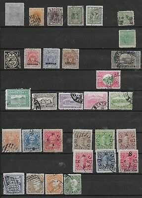 3504: India; selection of 31 Bhopal, Cochin, Indore, Sirmoor, etc. stamps. 1884>