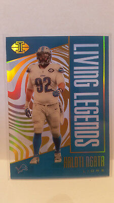 Panini Illusions 2017 Haloti Ngata #7 Lions Trading Card NFL Football