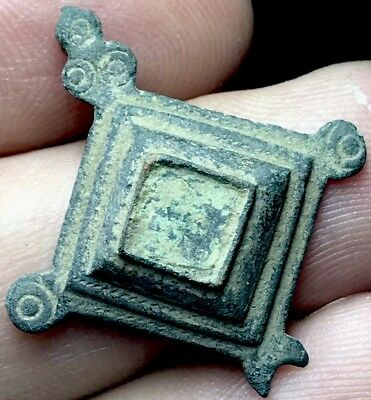 Ancient Imperial Roman Lozenge Type Brooch. 2nd Century Artefact.