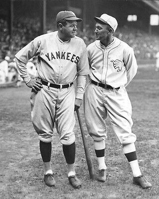 1927 Yankees BABE RUTH   A s TY COBB Glossy 8