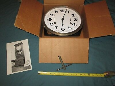 Antique Time Recorder Clock Movement & Bracket & Wind Key for Parts/ repair