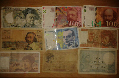 France lot 19 different notes - F-VF condition