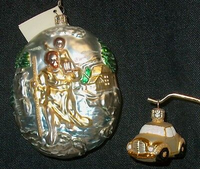 """Patricia Breen """"St. Christopher"""" 1999 2-piece Ornament, Signed"""