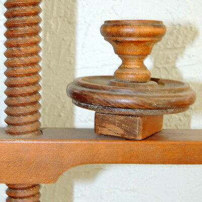 PALM SPRINGS Candlestick Holder Wood Vintage Mid Century Tell City Chair Maple