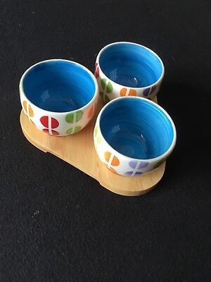 Whittard Of Chelsea Three Small Bowls