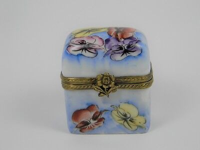 Chamart Decor Main Limoges France Trinket Box Perfume Bottles Floral Porcelain