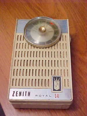 Vintage Zenith Royal 50 Transistor Radio Complete and Working