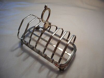 Victorian Sterling Silver Toast Rack 260g repaired lot 24