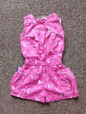 Sweet Elegance - Girls - Pink Floral Patterned Playsuit -  Age 3/4 Years