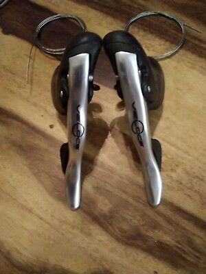 Campagnolo Veloce 2x10 Speed Shifters Silver