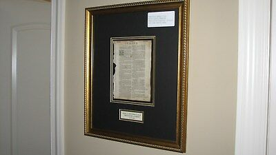 1619 ORIGINAL BIBLE LEAF - Printed in English - KING JAMES VERSION (from London)