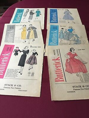 Vintage 1953 BUTTERICK Fashion Preview Sewing Pattern Flyers (6)
