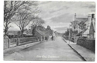 CASTLETOWN Postcard Scotland Caithness East End Early Animated