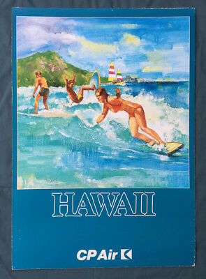 Vintage CP Air Canadian Pacific Airlines HAWAII poster