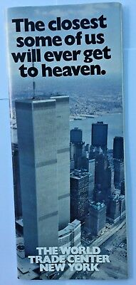RARE Early 1980's World Trade Center Twin Towers  WTC Brochure With Matchboxes