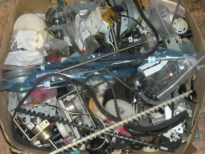 Job lot of photo copier mechanical parts, gears, pulleys, clutches, bearings etc