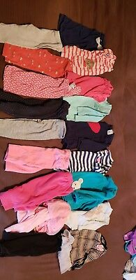 Baby Girls 6 Month Lot Fall Winter Clothes Carters long sleeve shirts, leggings