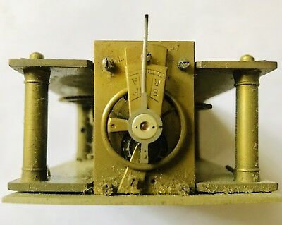 Antique Carriage Clock Movement Balance Oscillates Freely For-Spares Or Repairs