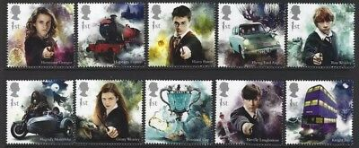 Gb 2018 Harry Potter Set Of 10 Singles Unmounted Mint, Mnh..best Price