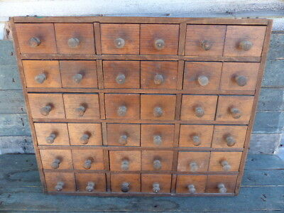 antique wood apothecary 36 drawer multi - drawer kitchen cabinet primitive