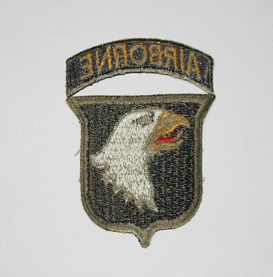 Authentic WWII U.S. Army 101st Airborne Greenback Shoulder Insignia Patch Type 1