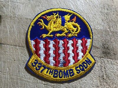 WWII/WW2/Post? US AIR FORCE PATCH-337th Bomb Squadron-ORIGINAL USAF BEAUTY!