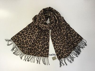 35bd8cafdc5bd J.CREW ITALIAN WOOL-BLEND Scarf In Leopard NWT Made In Italy ...