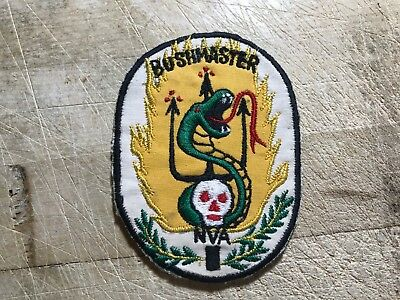 1960s Vietnam US ARMY PATCH 24th Infantry Division BUSHMASTER NVA ORIGINAL!
