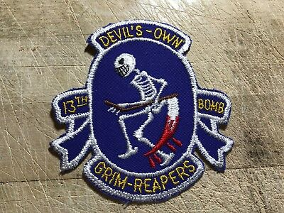 WWII/WW2/Cold War? US AIR FORCE PATCH-13th Bomb Squadron-Devils Own-ORIGINAL!