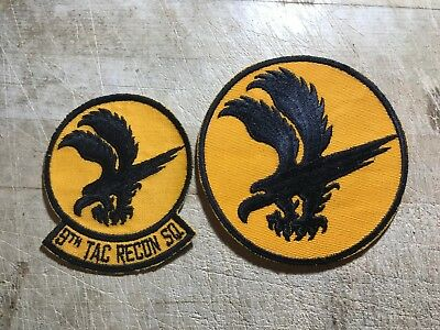 1950s/1960s? 2 US AIR FORCE PATCHES-9th Tactical Recon Squadron-ORGINALS! USAF