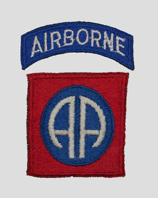Authentic ENGLISH MADE WWII U.S. Army 82nd Airborne SILK Shoulder Insignia Patch