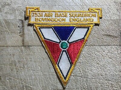 WWII/WW2/Post USAF/RAF PATCH? 7531 AIR BASE SQUADRON England-ORIGINAL AIR FORCE!